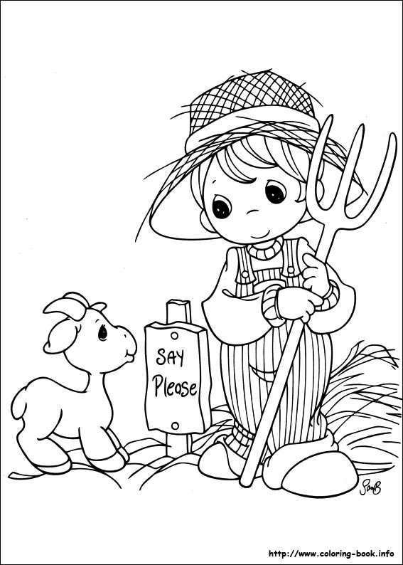 precious moment baby coloring pages - photo #47
